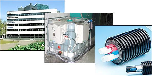Torre de enfriamiento en                                                                                      fábrica de plásticos